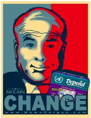 McCain Changes his Depends