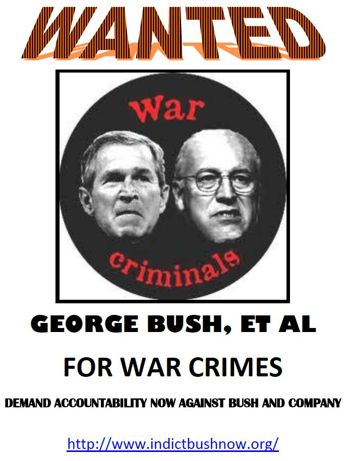 Bush and Cheney Wanted Poster