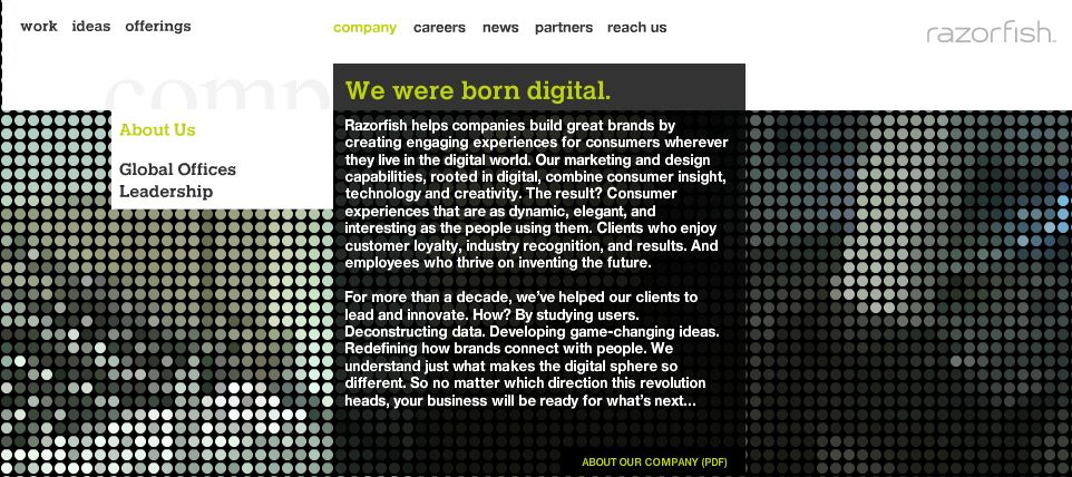 Razorfish Website