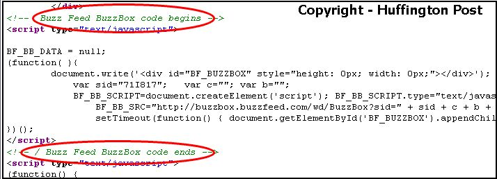 Buzz Feed Web Page Code