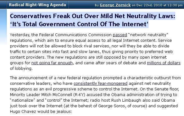 Net Neutrality Fear Mongering